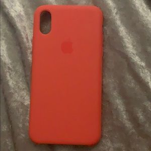 Accessories - Orange IPhone X/XS case apple silicone case